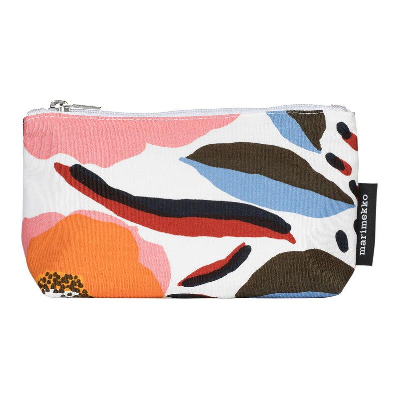 Marimekko Eelia Rosarium cosmetic bag, white