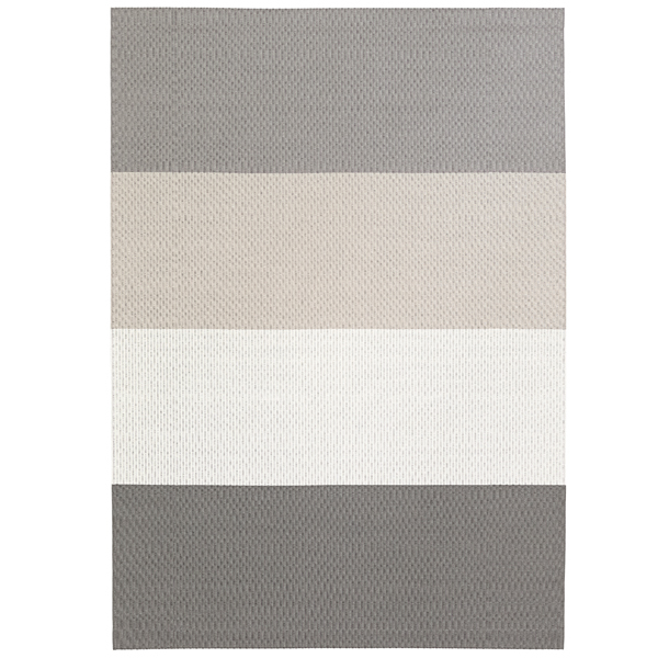Woodnotes Fourways matto, pohjattu, vaaleanharmaa-valkoinen