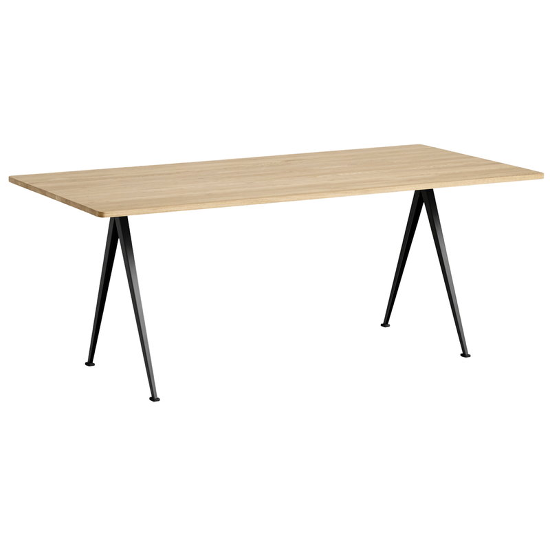 Hay Pyramid table 02, black - matt lacquered oak