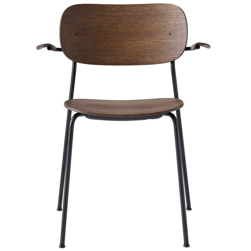 Menu Co Chair with armrests, dark stained oak