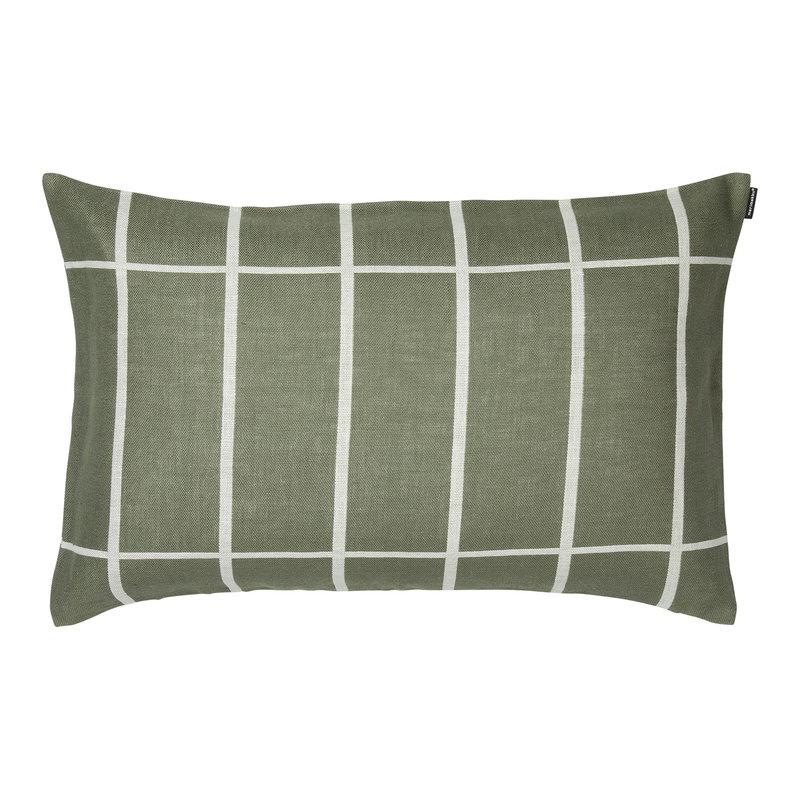 Marimekko Tiiliskivi tyynynpäällinen 40 x 60 cm, harmaanvihreä-valkoinen