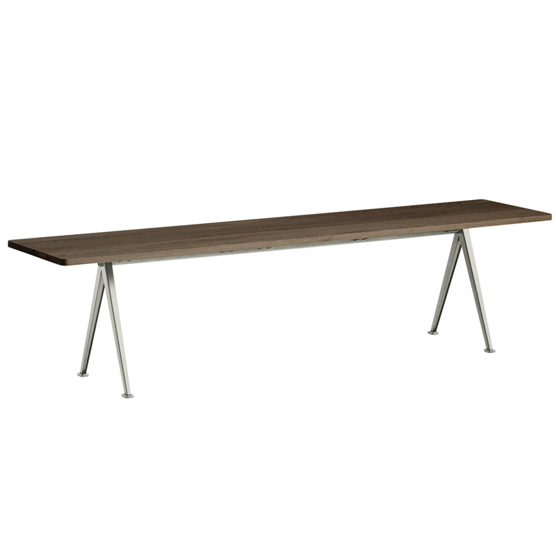 Hay Pyramid bench 12, beige - smoked oak