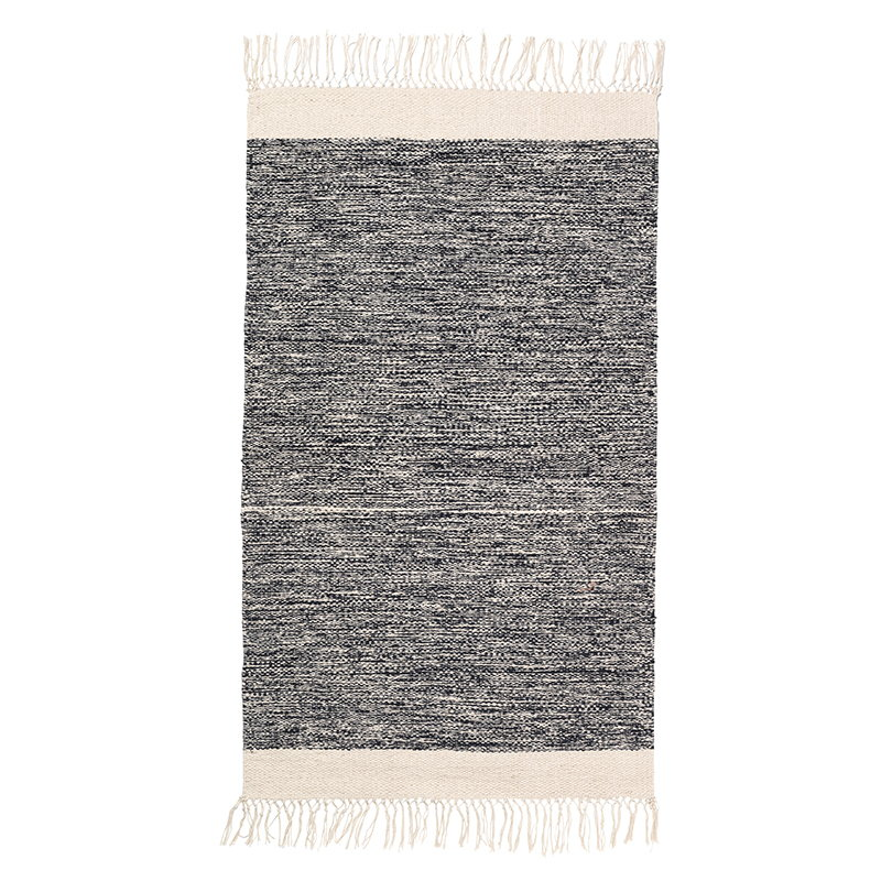 Ferm Living Melange bathroom rug, black-white