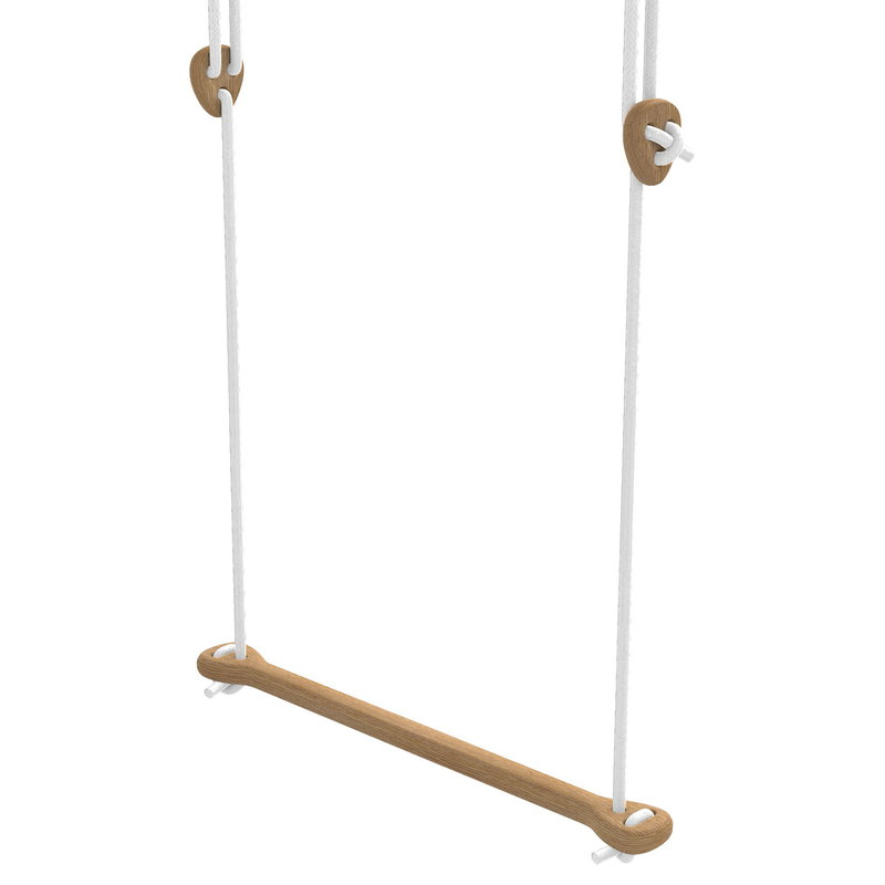 Lillagunga Bone trapeze, oak - white rope
