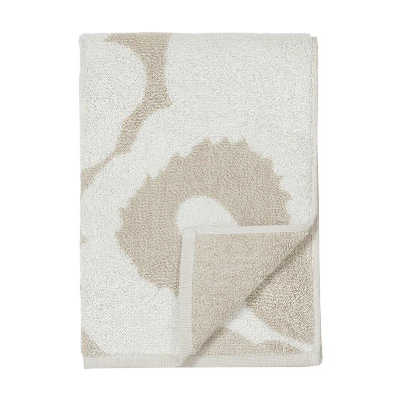 Marimekko Unikko käsipyyhe 50 x 100 cm, beige-valkoinen