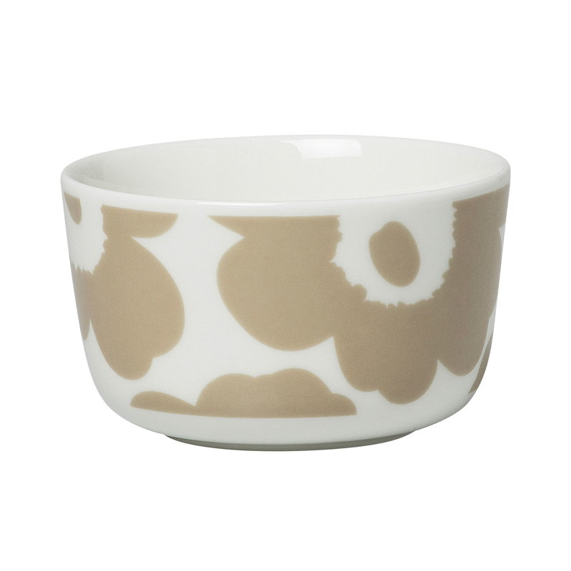 Marimekko Oiva - Unikko bowl 2,5 dl, white - beige