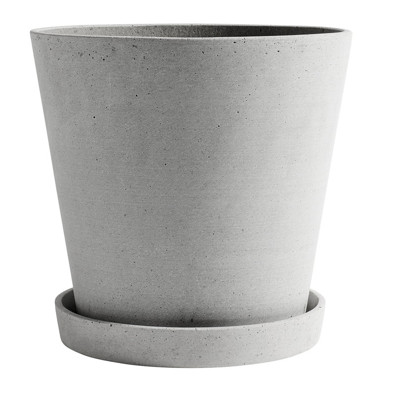 Hay Flowerpot and saucer, XXL, grey