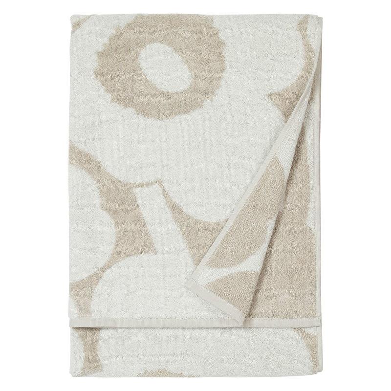 Marimekko Unikko kylpypyyhe, beige - valkoinen