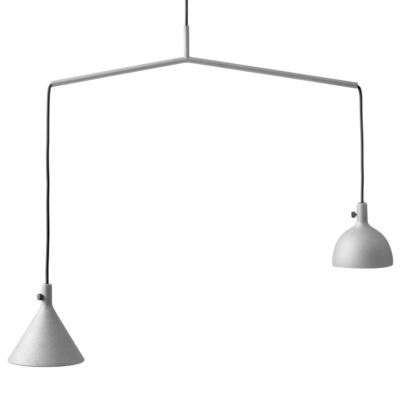 Menu Cast pendant, Shape 4, grey
