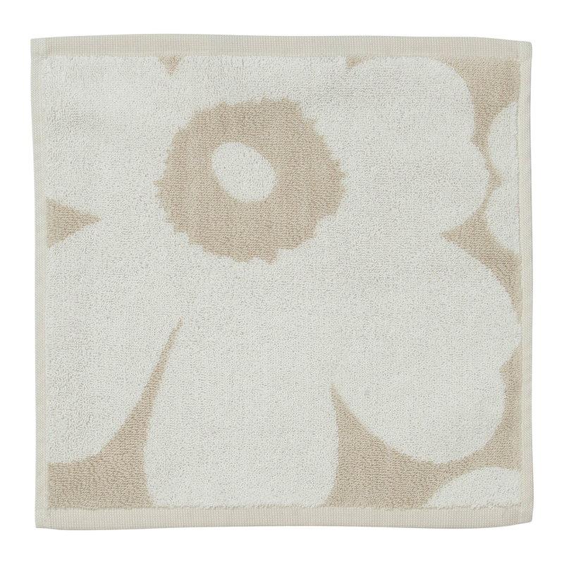 Marimekko Unikko guest towel 30 x 30 cm, beige-white