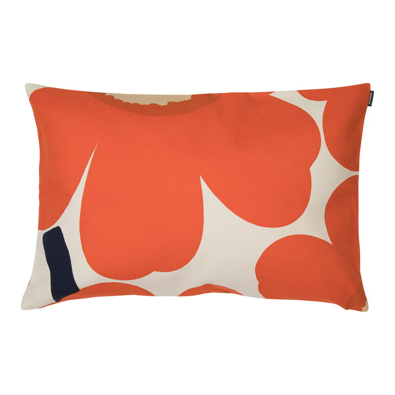 Marimekko Unikko cushion cover 40 x 60 cm, beige-orange-dark blue