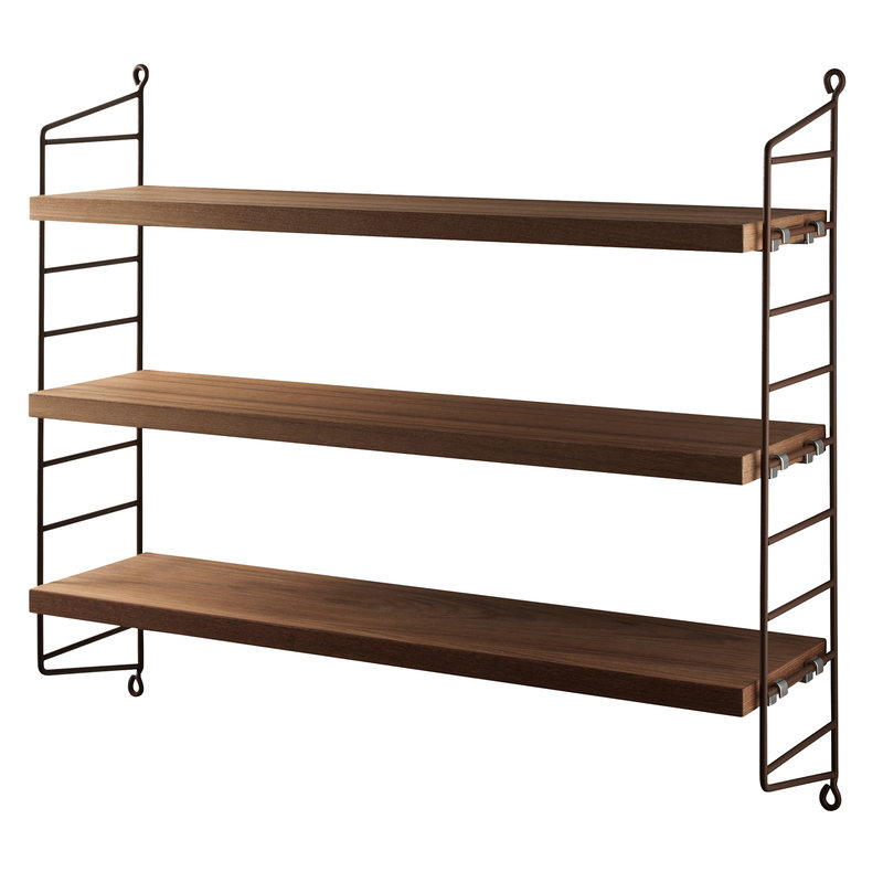 String String Pocket shelf, teak - brown