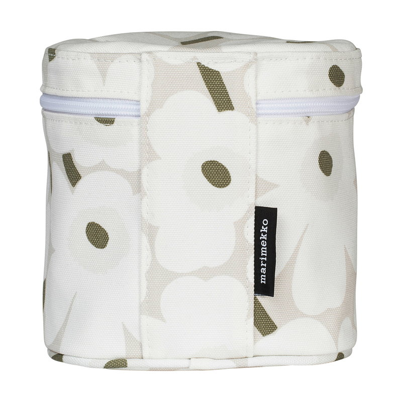 Marimekko Vuolu Mini Unikko cosmetic bag, beige-white-grey green