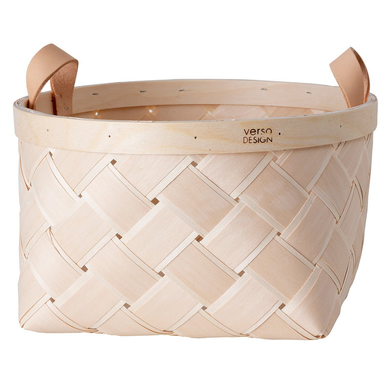 Verso Design Lastu birch basket, round, M