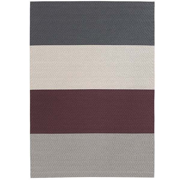 Woodnotes Fourways carpet with backing, plum-graphite