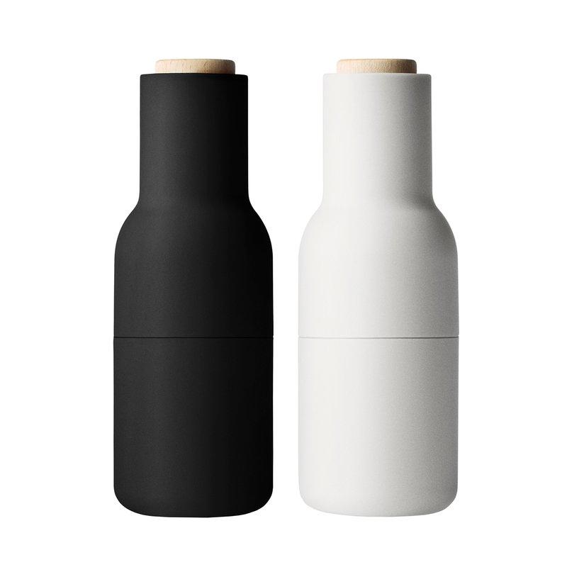 Menu Bottle Grinder maustemyllyt 2 kpl, ash - carbon - pyökki