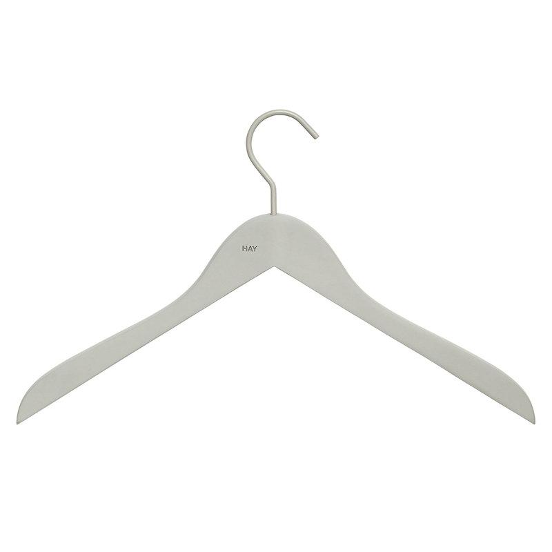 Hay Soft coat hanger slim, grey, 4 pcs