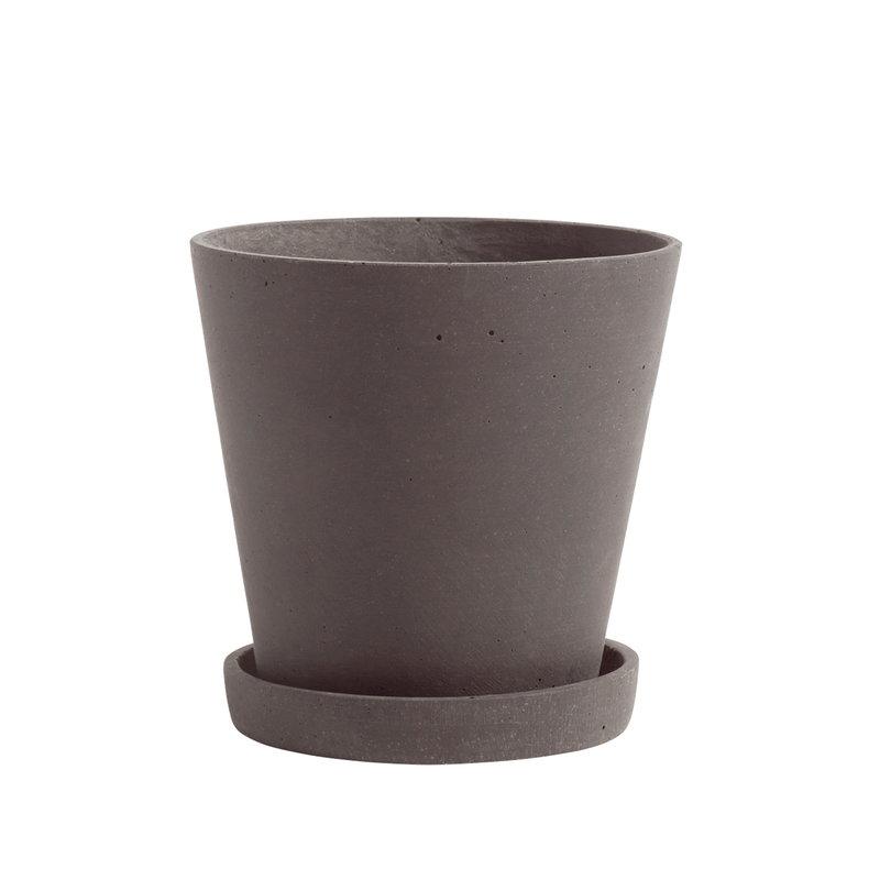Hay Vaso e sottovaso Flowerpot, M, prugna