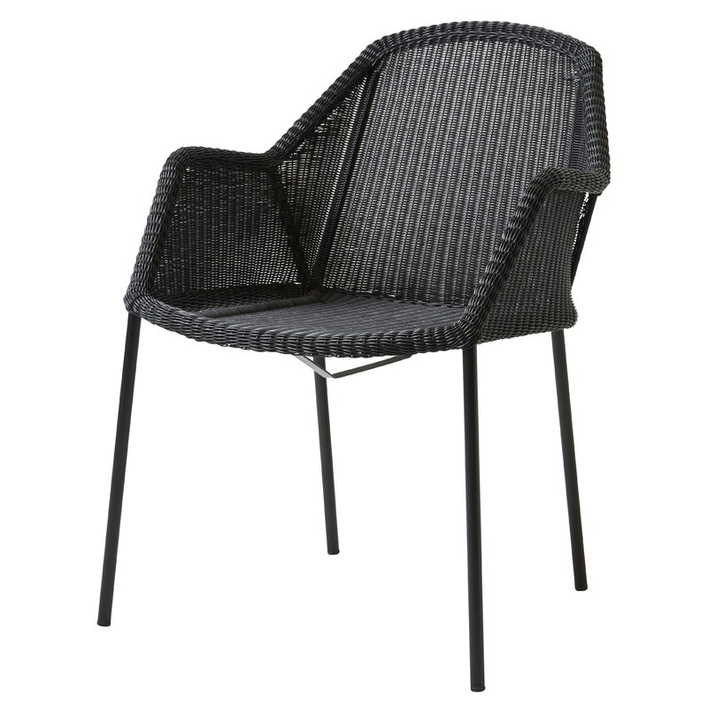Pleasing Cane Line Breeze Dining Chair Stackable Black Finnish Ncnpc Chair Design For Home Ncnpcorg