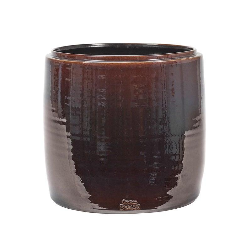 Serax Glazed Shades pot, 34 x 34 cm, brown