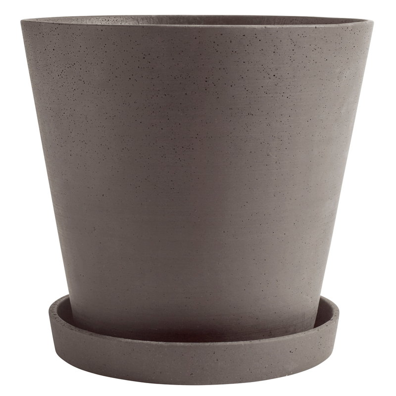 Hay Flowerpot and saucer, XXXL, plum