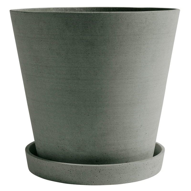 Hay Flowerpot and saucer, XXXL, green