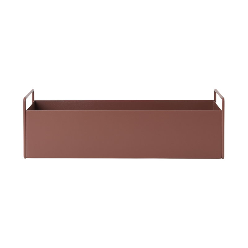 Ferm Living Plant Box,  small, red brown