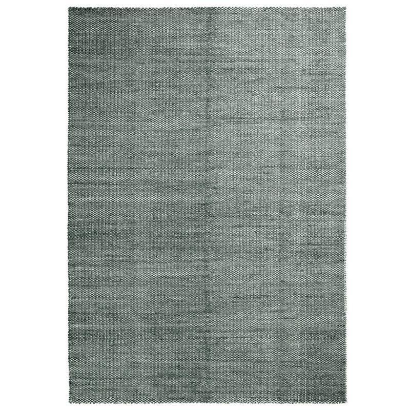 Hay Moiré Kelim matto, 140 x 200 cm, tummanvihreä