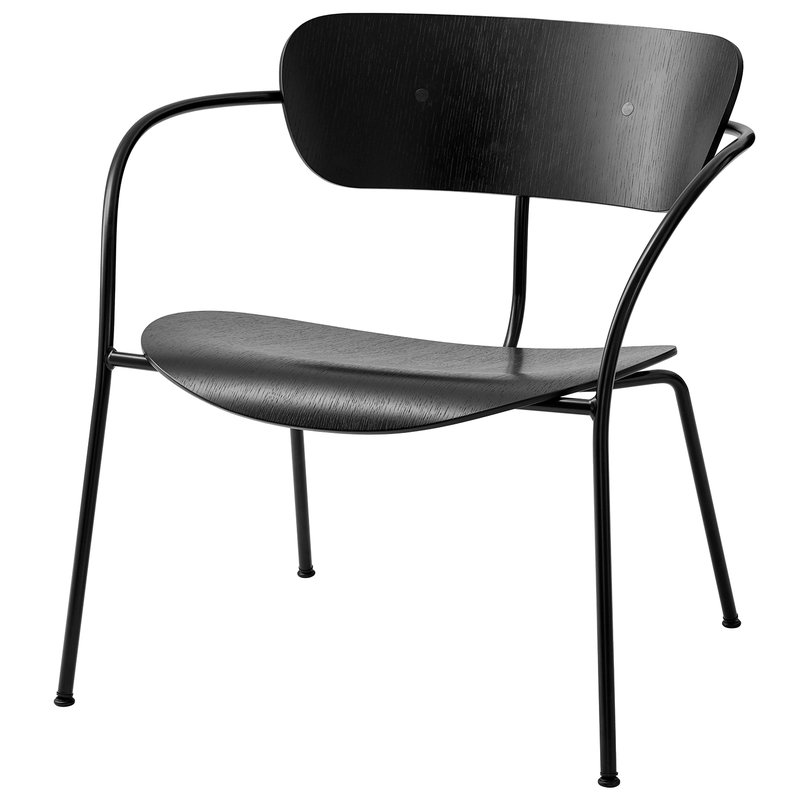 &Tradition Pavilion AV5 lounge chair, black oak