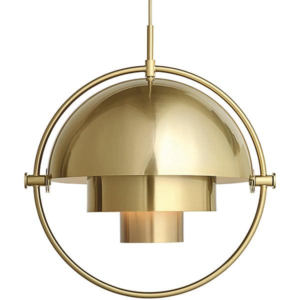 Gubi Multi-Lite pendant, brass