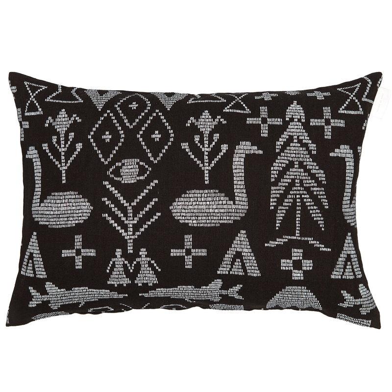 Saana ja Olli Maailman synty tyynynpäällinen,40 x 60 cm,  musta - valkoinen
