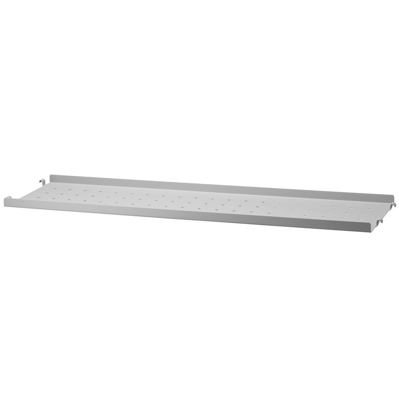 String String metal shelf 20 cm, low, grey