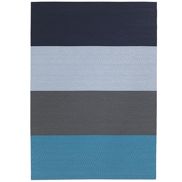 Woodnotes Fourways carpet with backing, turquoise-dark blue