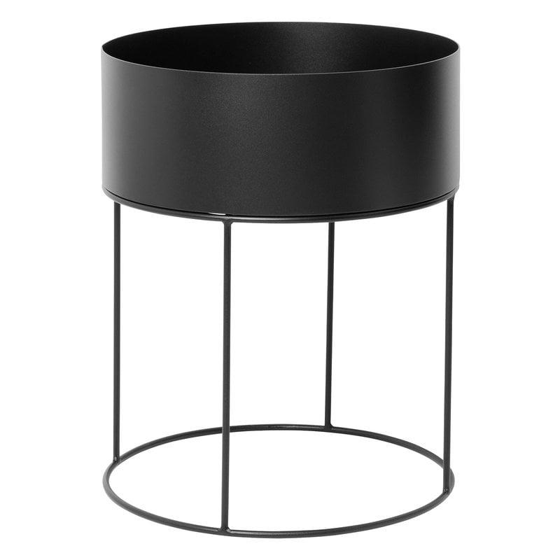 Ferm Living Plant Box, round, black