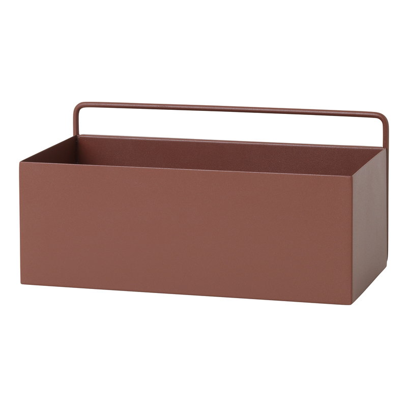 Ferm Living Wall Box, rectangle, red brown