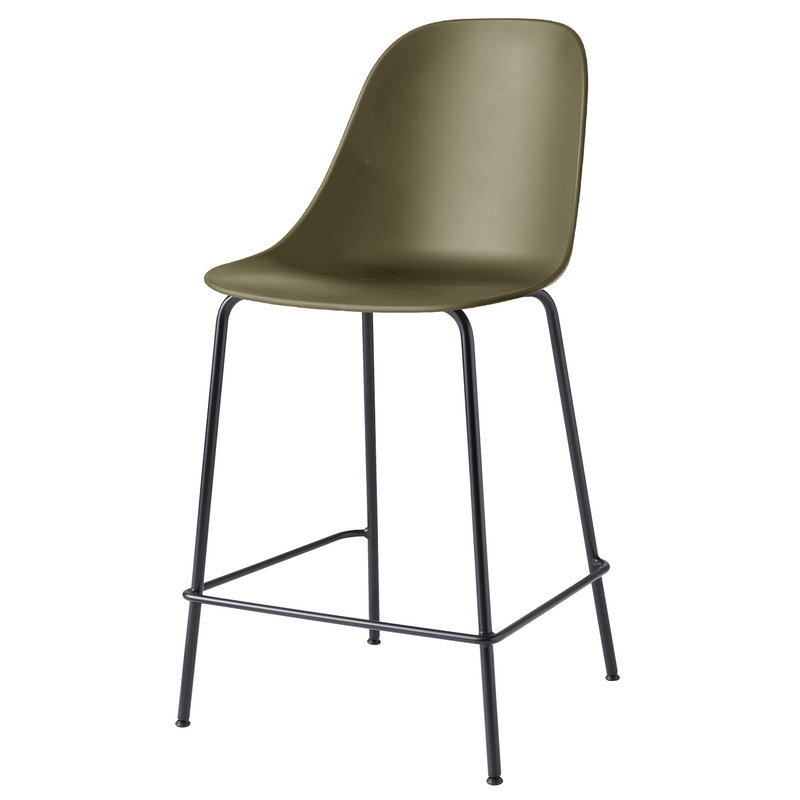 Menu Harbour counter side chair 63 cm, olive - black steel