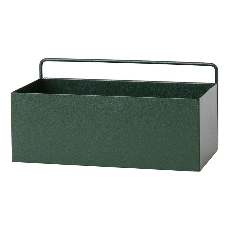 Ferm Living Wall Box kukkalaatikko, suorakaide, tummanvihreä