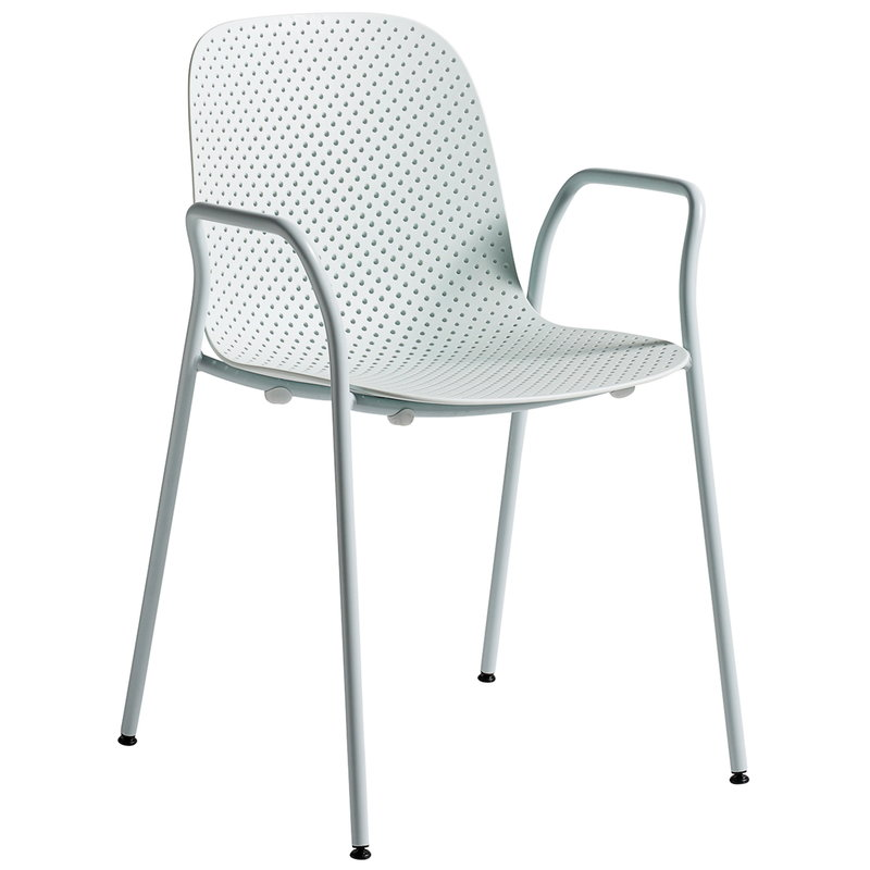 Hay 13Eighty armchair, pure grey - soft blue