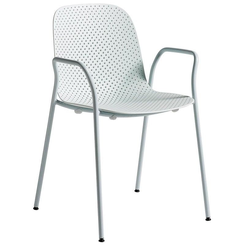 Hay 13Eighty käsinojallinen tuoli, puhdas harmaa - pehmeä sininen