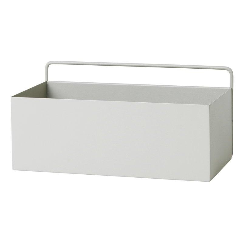 Ferm Living Fioriera Wall Box, rettangolare, grigio chiaro
