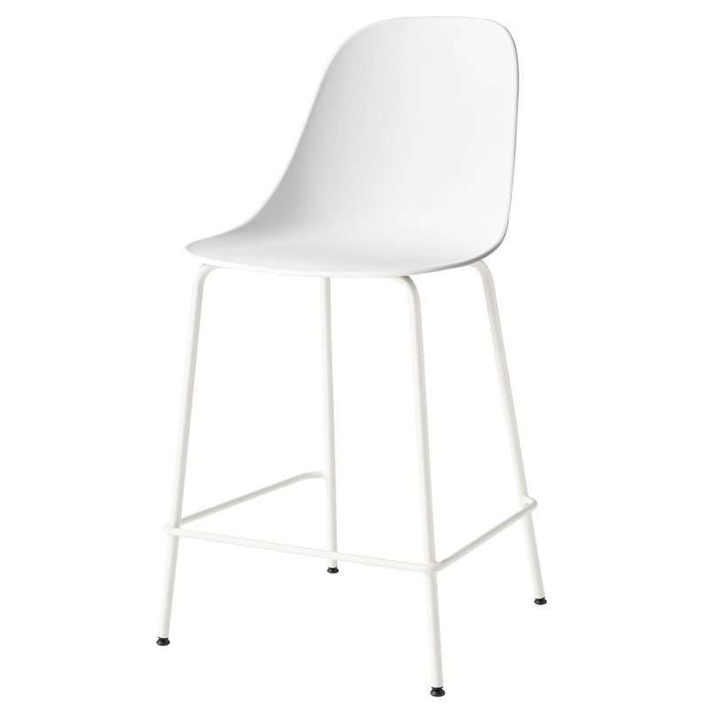 Menu Harbour counter side chair 63 cm, white - light grey steel