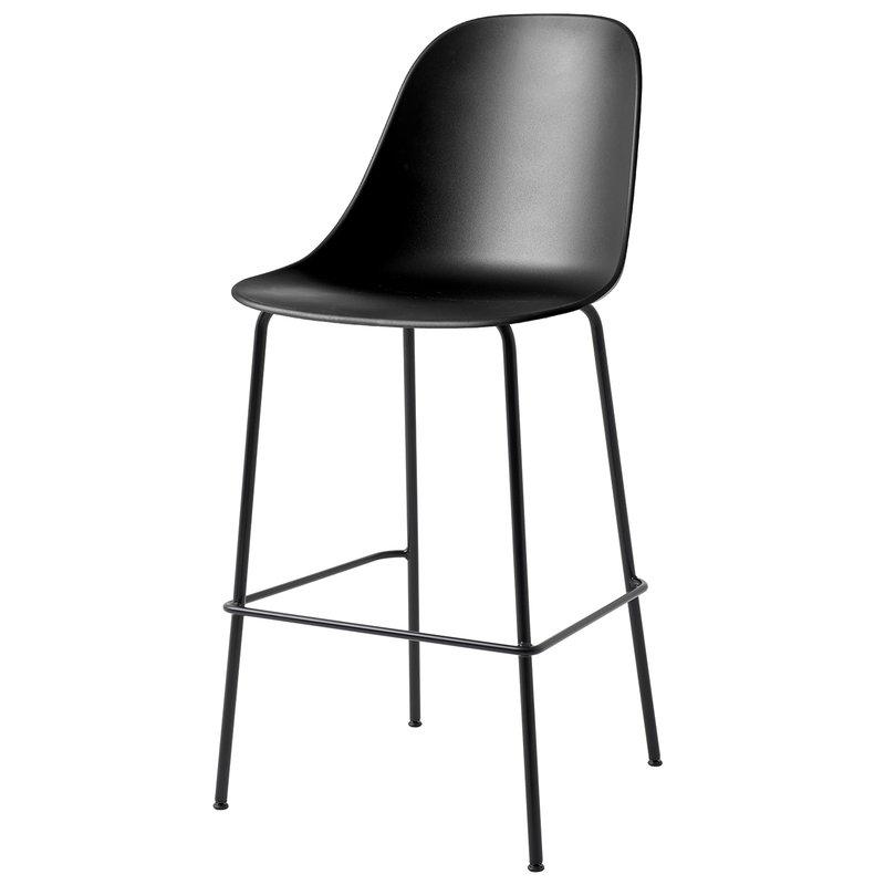 Menu Harbour bar side chair 73 cm, black - black steel