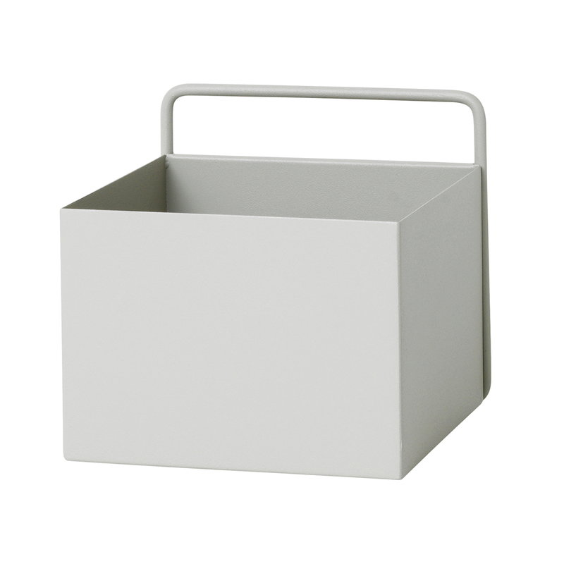 Ferm Living Fioriera Wall Box, quadrata, grigio chiaro