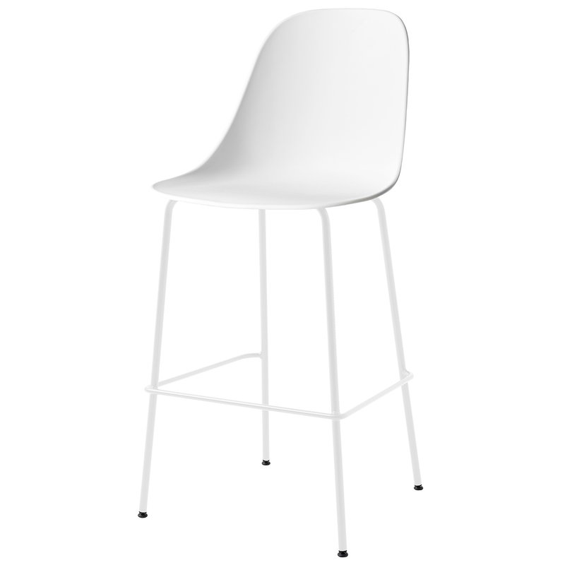 Menu Harbour bar side chair 73 cm, white - light grey steel