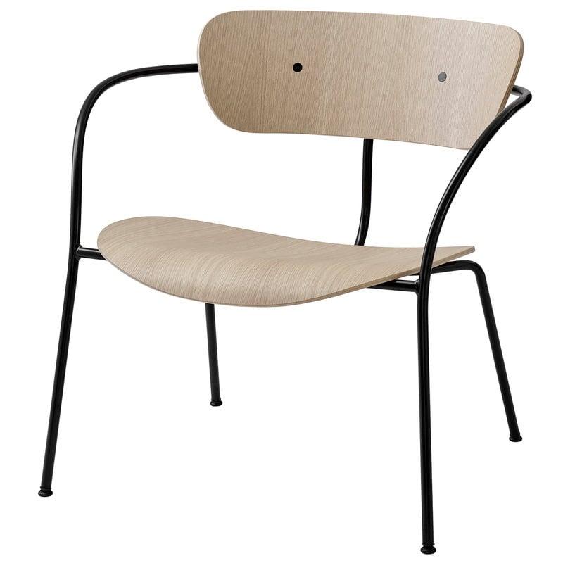 &Tradition Pavilion AV5 lounge chair, lacquered oak
