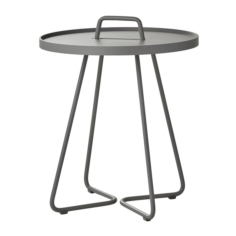 Cane-line On-the-move table, small, light grey
