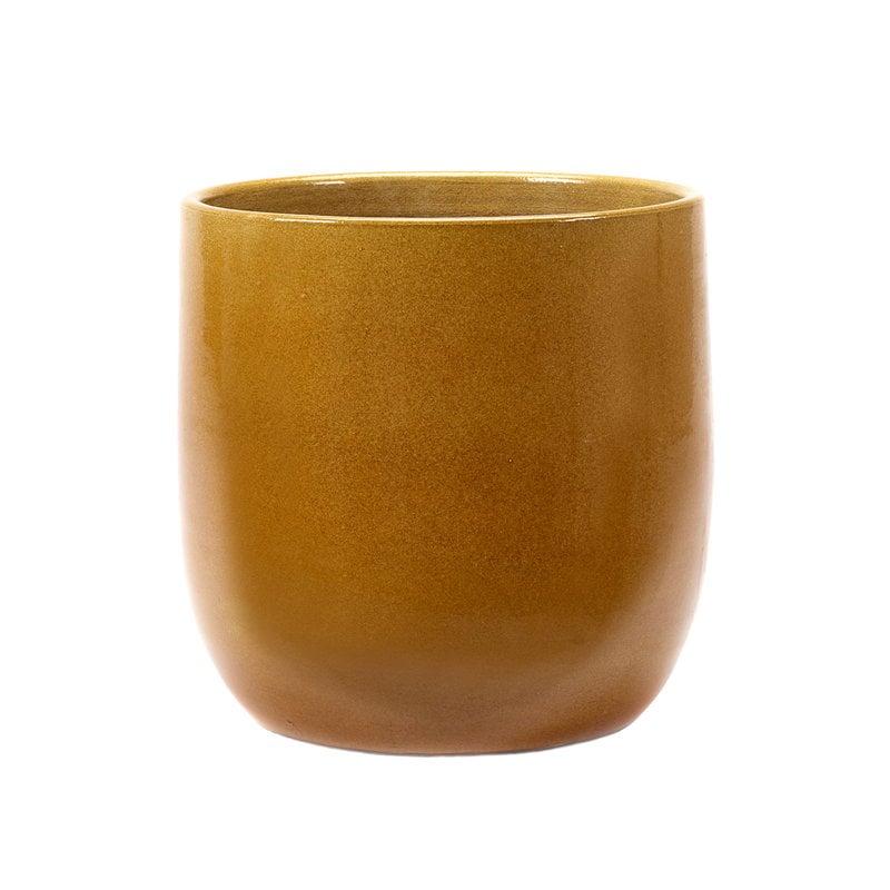 Serax Glazed Shades flower pot, 27 x 29 cm, honey