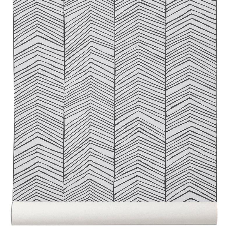 Ferm Living Herringbone wall paper