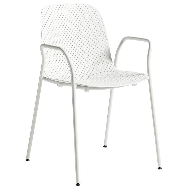 Hay 13Eighty käsinojallinen tuoli, harmaanvalkoinen - kalkki