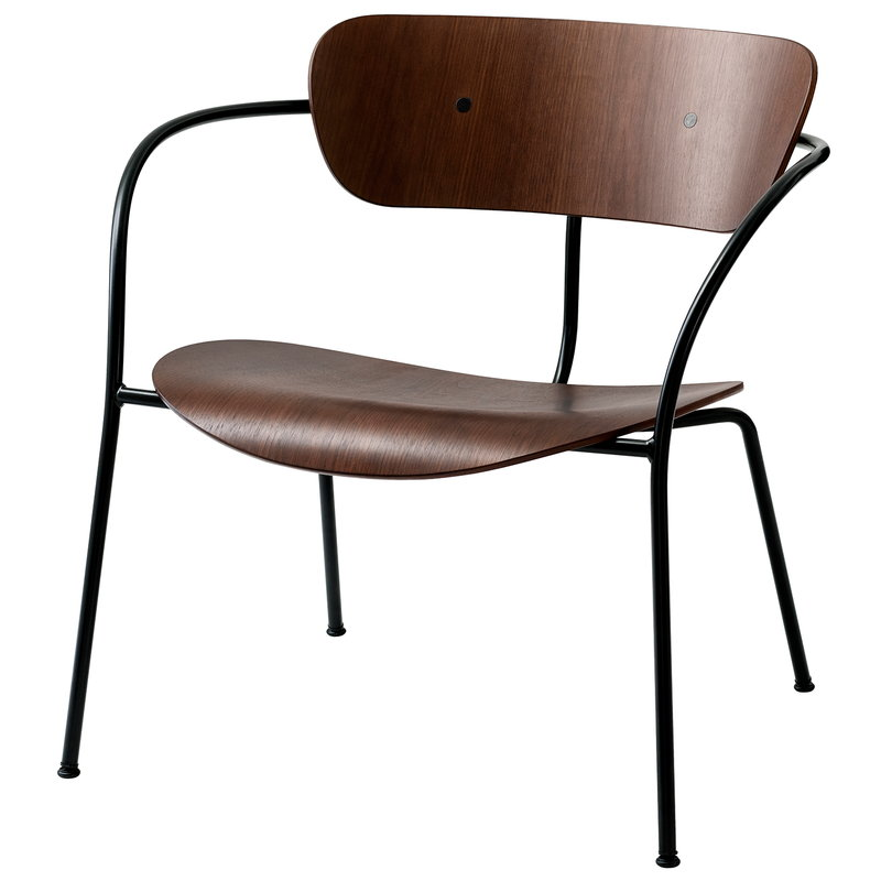 &Tradition Pavilion AV5 lounge chair, lacquered walnut